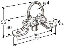 Folding locking ring
